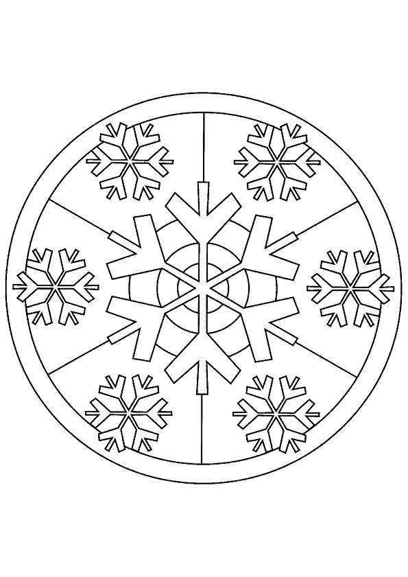 Free coloring and drawings Snowflake for Adults Coloring page
