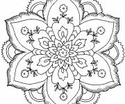 Coloring pages Artistic Flower Mandala easy