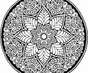 Coloring pages Colored Mandala Roses