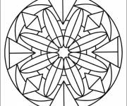 Coloring pages Crystallized Flower Mandala
