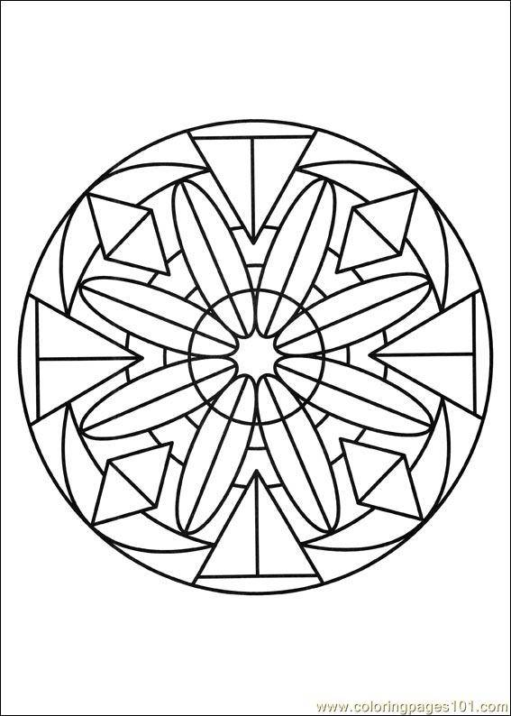 Free coloring and drawings Crystallized Flower Mandala Coloring page