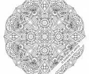 Coloring pages Flower Mandala difficult to print