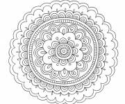 Free coloring and drawings The Flower Mandalas Coloring page