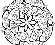 Free coloring and drawings Vector Vegetable Flower Mandala Coloring page