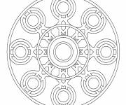 Free coloring and drawings Color Online Mandala Coloring page