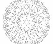 Free coloring and drawings Dimensional Online Mandala Coloring page