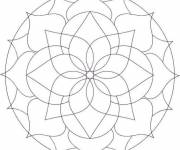 Free coloring and drawings Flower Mandala Online Coloring page