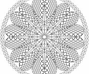 Free coloring and drawings Mandala Hearts Online Coloring page