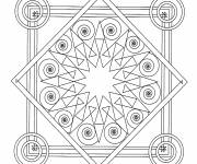 Free coloring and drawings Mandala Tile Adult Coloring page