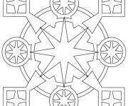 Coloring pages Mandala tiles and circles Online