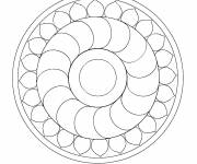 Free coloring and drawings Online Mandala to decorate Coloring page