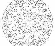 Free coloring and drawings Online Mandala to download Coloring page