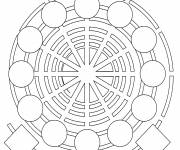 Free coloring and drawings Spiral Mandala Online Coloring page