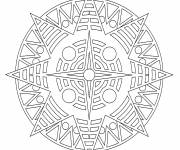 Free coloring and drawings Star Mandala Online Coloring page