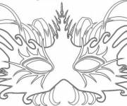 Coloring pages Adult Mask