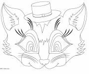 Coloring pages Animal mask