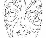 Coloring pages Artistic mask