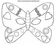 Coloring pages Butterfly mask