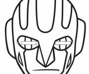 Coloring pages Carnival mask