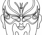 Coloring pages Decorated mask