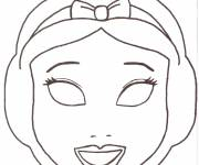 Coloring pages Snow White Mask