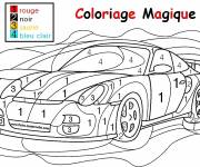 Coloring pages Magic car number