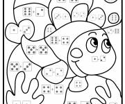 Coloring pages Magic Fish Addition