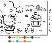 Coloring pages Magic Kindergarten numeration