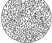 Coloring pages Magic Letters of the alphabet maternal