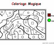Coloring pages Magic Maternelle in brown and green