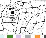 Coloring pages Magic number The dog