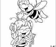 Coloring pages Bee Maya and her best friend