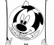 Coloring pages Humorous mickey christmas
