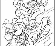 Coloring pages Mickey christmas Cartoon