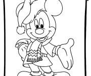 Coloring pages Mickey christmas to cut