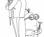 Coloring pages Cartoon minions to color