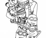 Coloring pages Despicable Me Movie