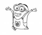 Coloring pages Minion in color