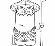 Coloring pages Minion Kevin sportsman