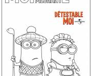 Coloring pages Minion Rush Despicable Me
