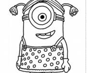 Coloring pages Minion Rush to cut