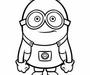 Coloring pages Minion Rush vector