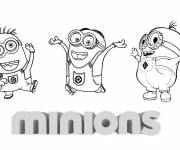 Coloring pages Cartoon minions
