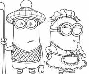 Coloring pages Funny Minions Movie