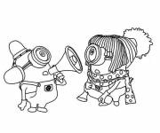 Coloring pages Minions kindergarten