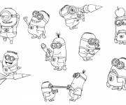 Coloring pages Minions Movie Characters