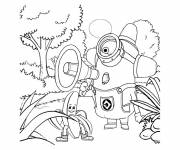 Coloring pages Stylized Minions