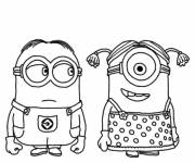 Coloring pages The very funny Minions