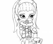 Coloring pages Baby Monster High online