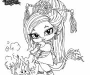 Coloring pages Cartoon monster high baby